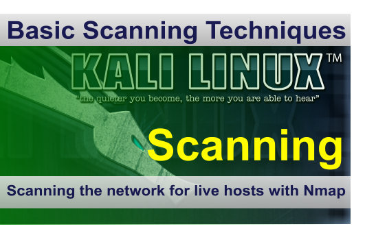 Scanning a network for live hosts with Nmap