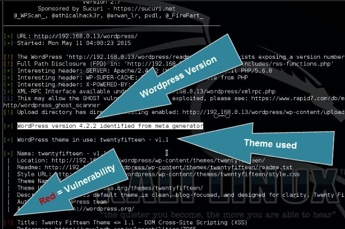WPScan WordPress vulnerability scanner