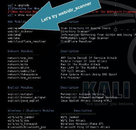 Websploit Modules
