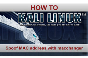 Mac Address spoofing with macchanger