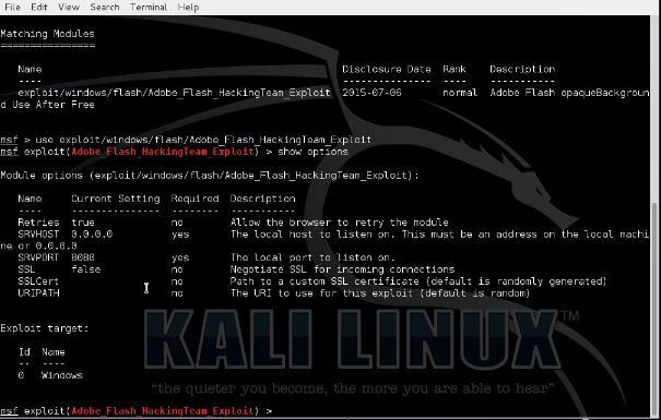 Metasploit CVE-2015-5122 Flash Exploit 4