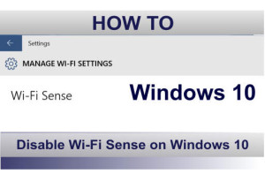 How to disable Wi-Fi Sense on Windows 10