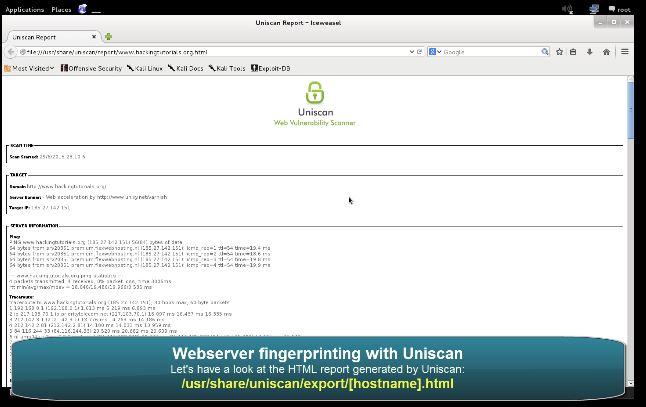 Uniscan Webserver Fingerprinting -4