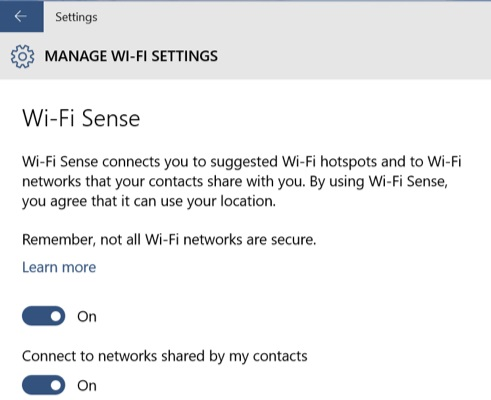 How to disable Wi-Fi Sense on Windows 10  - WiFiSense1 - How to disable Wi-Fi Sense on Windows 10