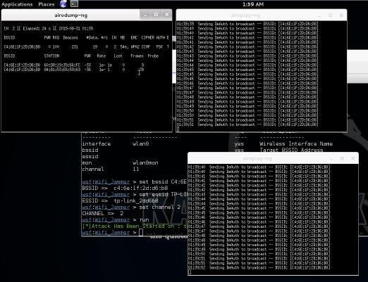 Websploit Wifi Jammer Running
