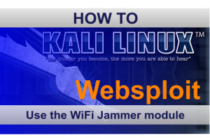 Websploit Wifi Jammer in Kali Linux