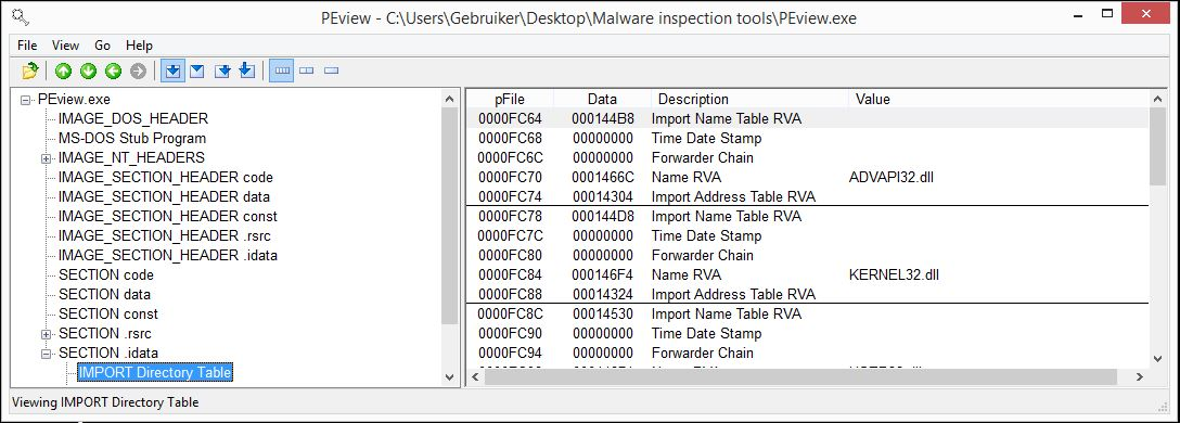Basic Malware Analysis Tools - PEview