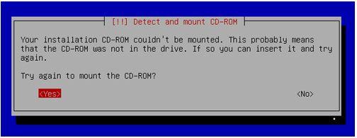 Kali Linux Installation - CDROM error 4