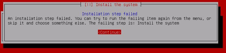 Kali Linux Installation - Installation Procedure 5 CDROM error