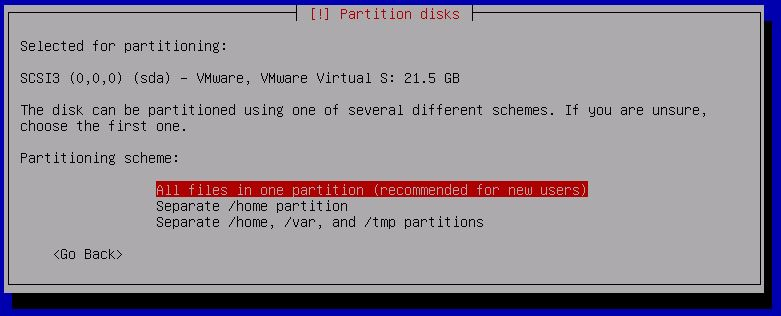 Kali Linux Installation - One partition installation 13
