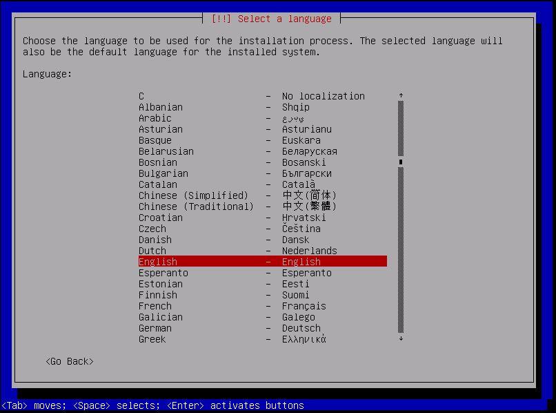 Kali Linux Installation - Select Language 2