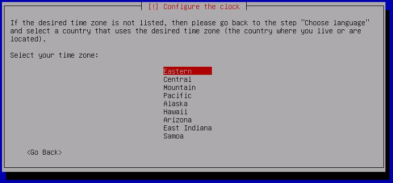 Kali Linux Installation - Select Timezone 10