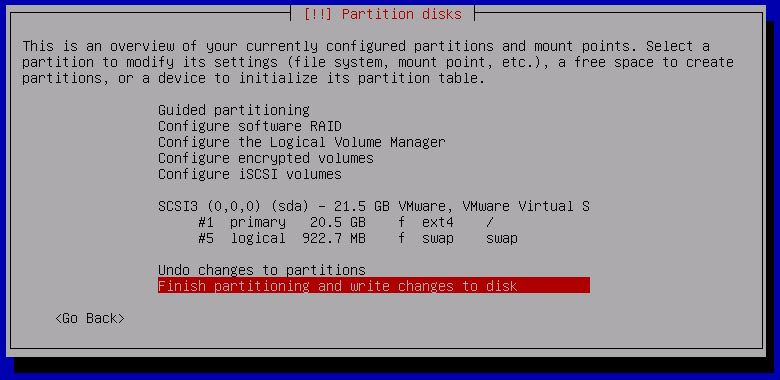 Kali Linux Installation - Write changes to disk 14