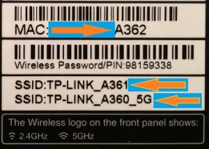TP Link Archer C5 - Label view 3