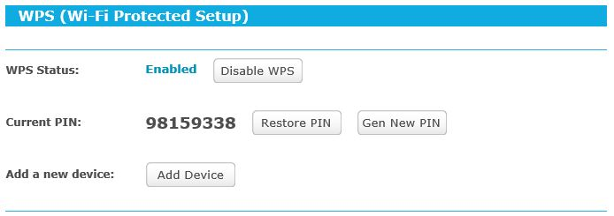 TP Link Archer C5 - WPS enabled by default 4