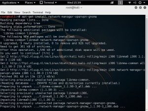 Installing VPN on Kali Linux 2016 - Network manager openvpn 1
