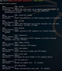 Metasploit show evasion command 12