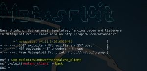 Metasploit use command 3