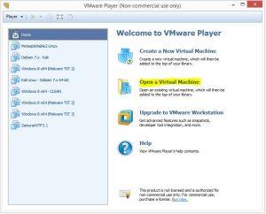 Setting up Metasploit and Metaspoitable 2 - VMware player 1