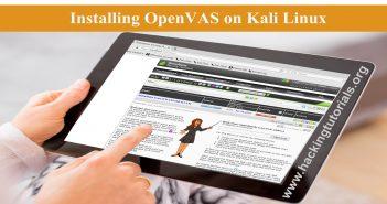 Installing OpenVAS on Kali Linux