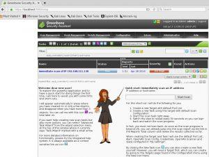 OpenVAS scanning interface