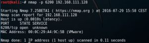 nmap scan VDFTPD port 6200
