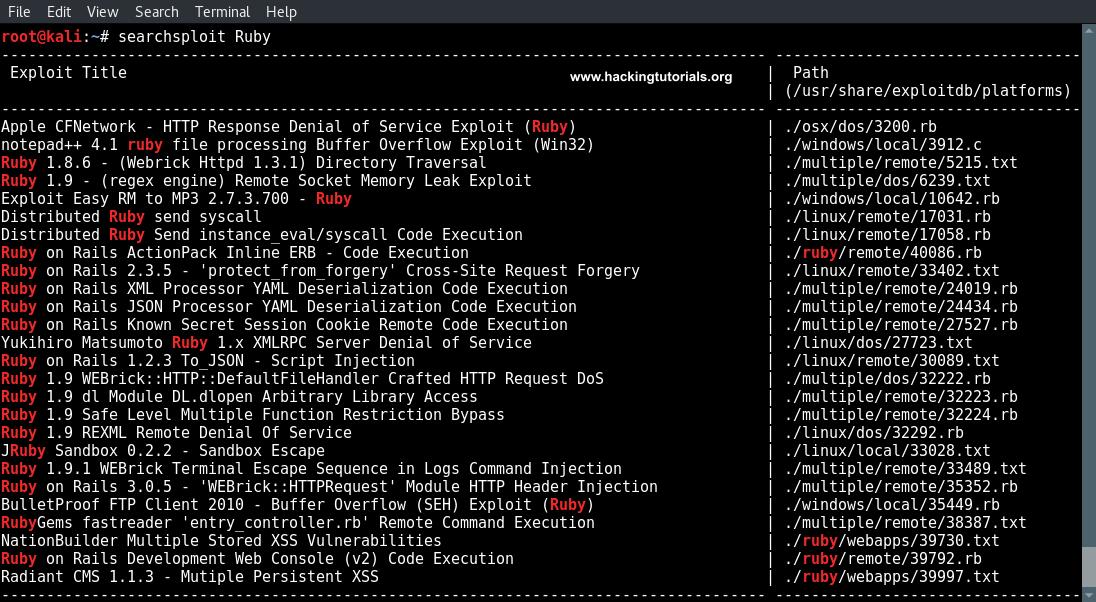 exploiting-druby-searchsploit