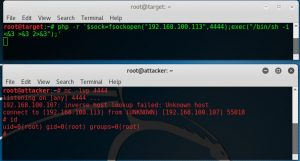 PHP reverse shell