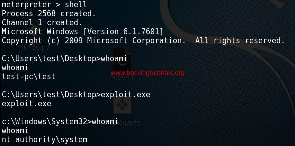 Windows 7 privilege escalation exploit