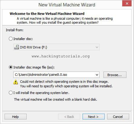 Installing Caine 8.0 - Create Caine VM