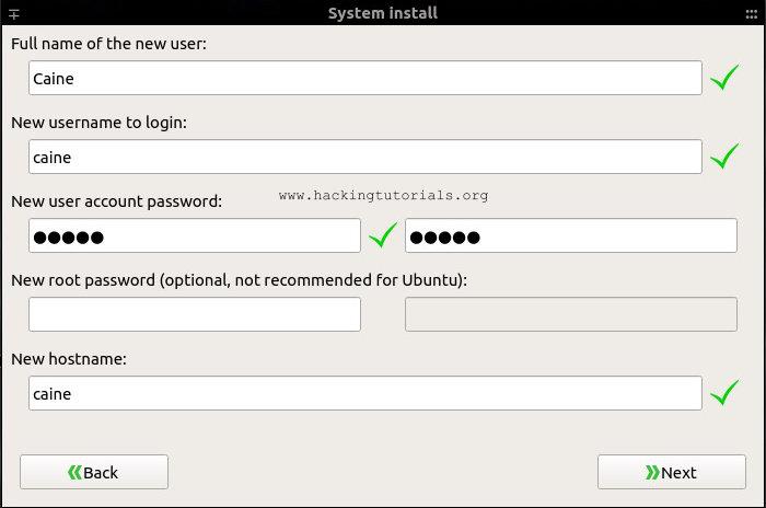 Caine 8 hệ thống lại thông tin người dùng