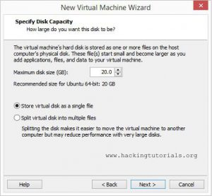 VM virtual disc to install caine