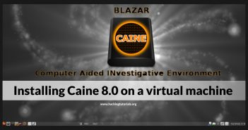 Installing Caine 8 on a virtual machine