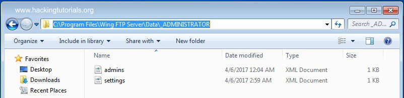 Wing FTP administrator