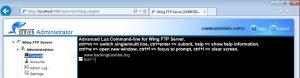 Wing FTP server lua command line