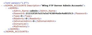 Wing FTP admins xml