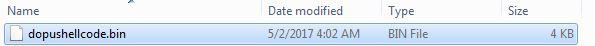 7 DoublePulsar Shellcode bin file