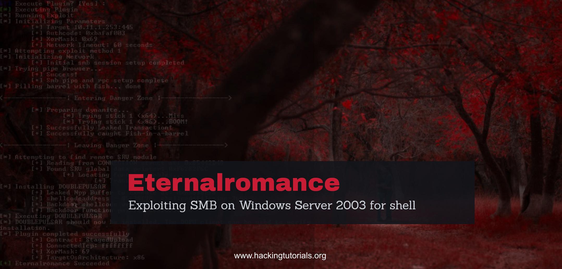 Windows command prompt nmap - Eternalromance Getting Shell On Windows 2003 Server