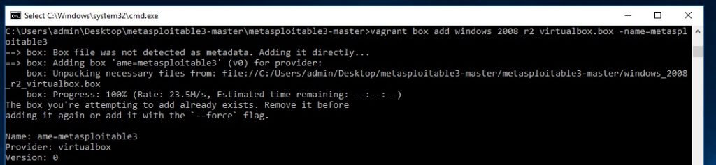 vagrant box add windows_2008_r2_virtualbox