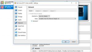Metasploitable 3 Kali Linux network settings host only