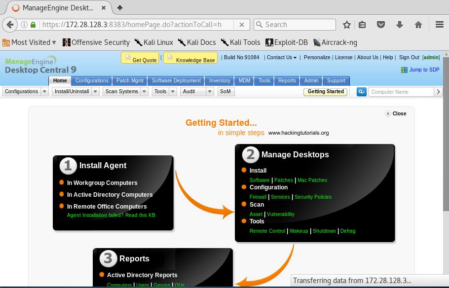 4 Metasploitable 3 - ManageEngine Desktop Central login