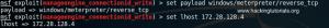 8 Metasploitable 3 - Metasploit payload options