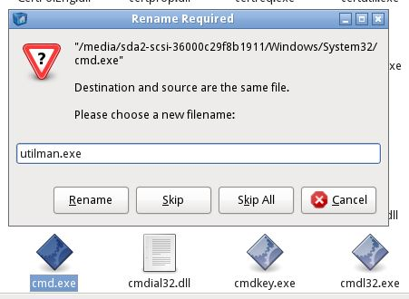 - win2008 passwd bypass1a rename cmd - How to bypass authentication on Windows Server 2008 R2